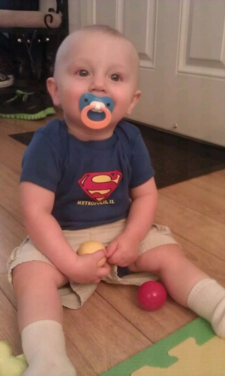 Happy Work From Home Tuesday with my little Superman :)