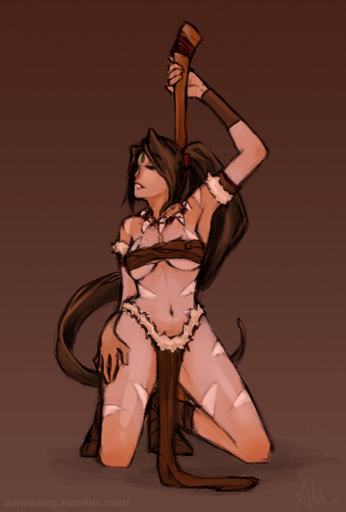 Nidaleeeeee~ Done for a weekly challenge thing my college friends made up. First week's theme is stripper lol.