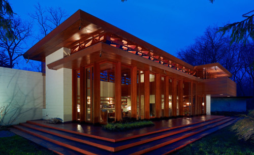 designsbyfranklloydwright:  Frank Lloyd Wright House for Sale, If You Can Move It Frank Lloyd Wright's Bachman-Wilson house (1954), Millstone, New Jersey