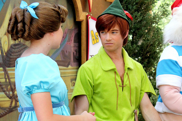 absolutenil:  allpackedforadventure:  Wendy Darling and Peter Pan on Flickr.  Getting real tired of your shit, Wendy (sorry. I had to)