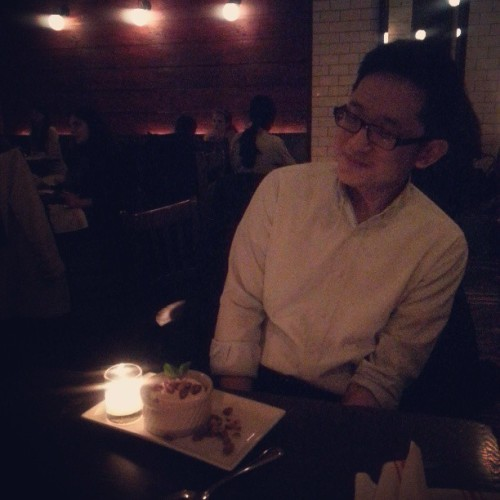 03192013 @lsupreme and his #Birthday #Dessert!  :3 // #Amigos (at Almond)