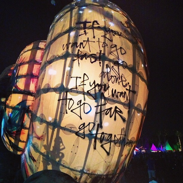 artoftranslation:  This is it. The snail of truth. #coachella