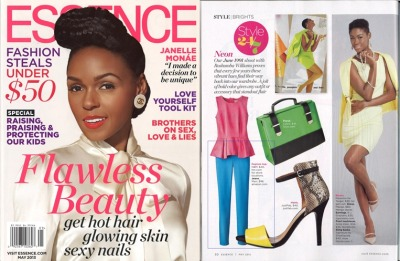 We're loving brights this spring and so is Essence Magazine. Check out our Alexa in Bright Blue in the May issue, Style 24/7: Brights feature.
