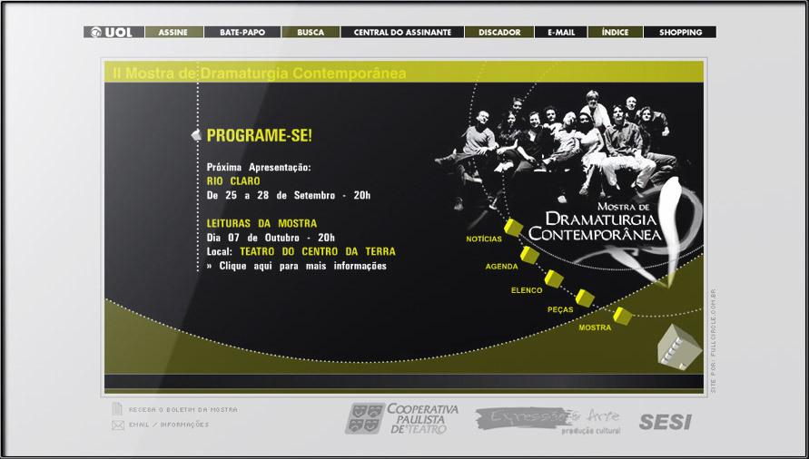 MOSTRA DE DRAMATURGIA SESI UOL FLASH WEB SITE