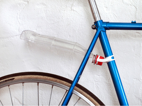 nycd:  Approved by NYCD 3D Printed Bicycle Bottle Fender Mount  Design by MichaelMueller This 3d printed mount works with most plastic bottles, like Coke, Evian ect. You can just clip it on your bike - no glue or screws needed! I've used a bottle which I've cut before. Technical, there is no need to halve it but it looks better this way and it's done easily. This bottle-fender-mount works nice on old steel bike racing frames. The diameter of the tube should be about 29 mm (1.14 inch). Please check the pictures above to see if it's comparable to your bike.