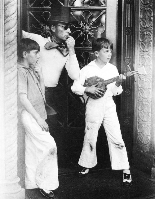 Buster Keaton and his sons.