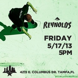 Skate with Andrew Reynolds tonight at Skatepark of Tampa!  Free BBQ and beer for those of age, too.  Woop!