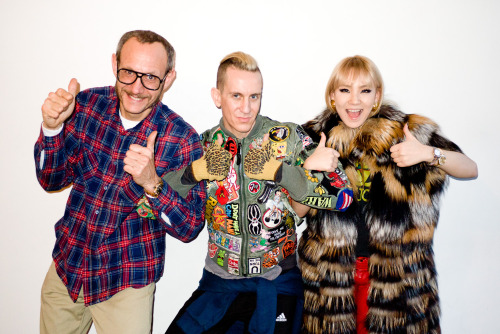 Me, Jeremy Scott and CL at my studio