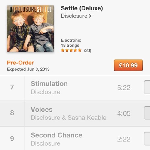 Pre order @disclosuremusic album! It's out in 2 weeks and I'm on it! Yeeeeyyaaaaa! !!