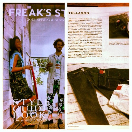 Honored to be a part of the Freak's Store (Japan) 2013 S/S Style Guide Book #freaksstore