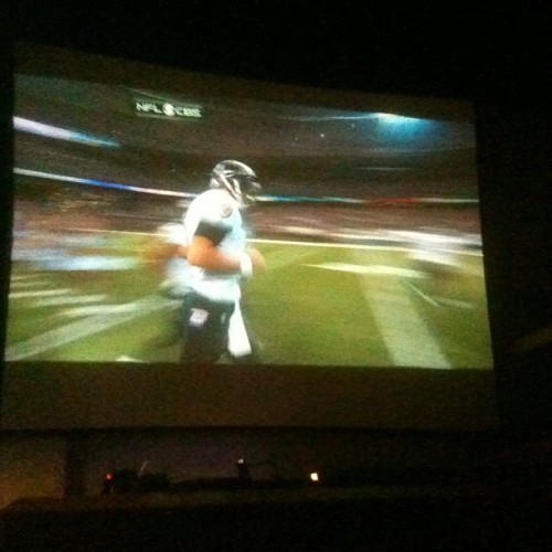 Super Bowl On The Big Screen But You Know I Don't Watch Sports Tho