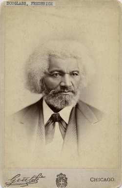 Portrait of Frederick Douglass, abolitionist leader and statesman, Chicago. Photograph by Gentile.  Want a copy of this photo?  > Visit our Rights and Reproductions Department and give them this number: iCHi-10140 Connect with the Museum