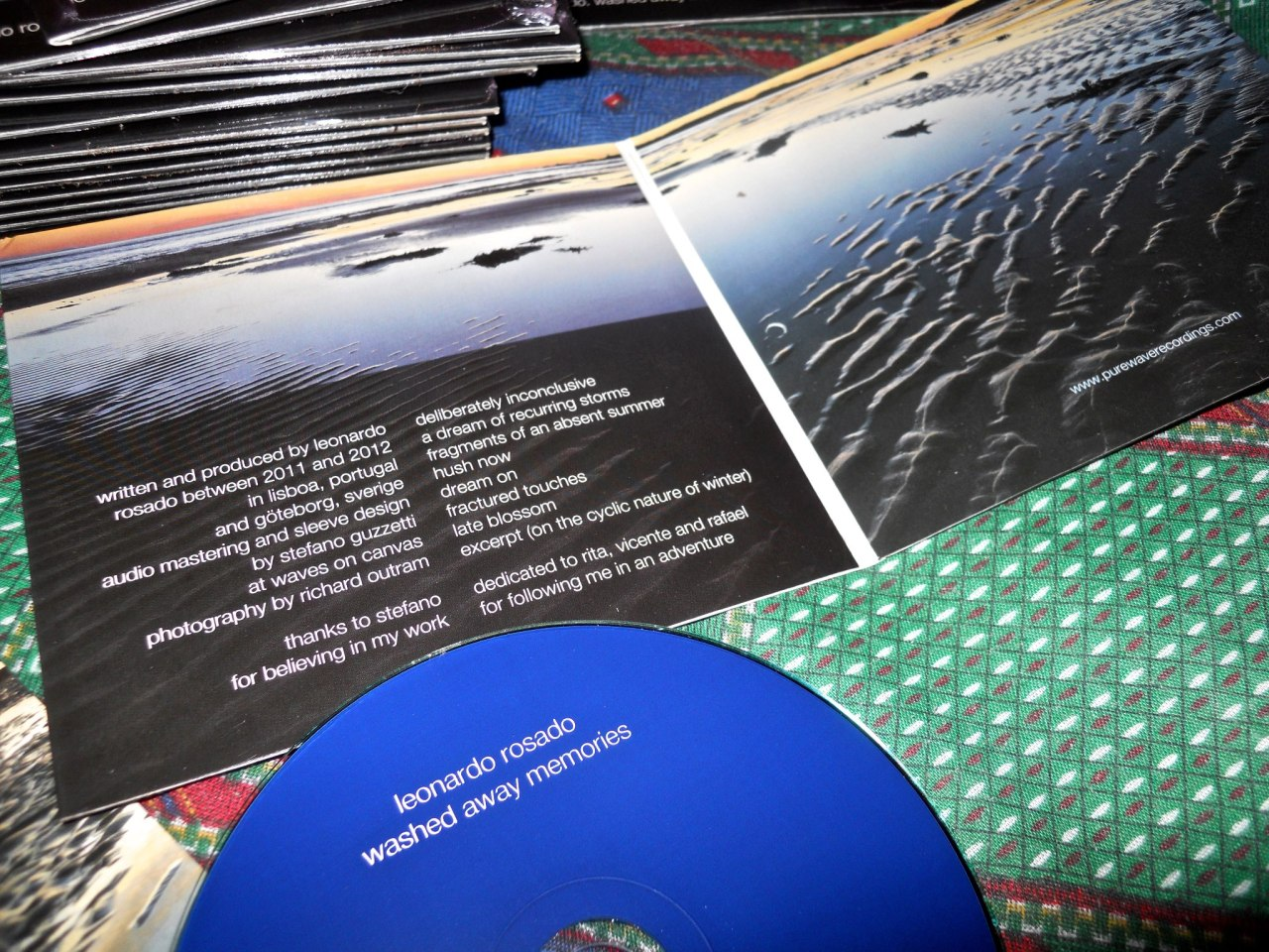 It has arrived to Pure Wave Recordings headquarters. My forthcoming album Washed away memories. To be released the 3rd of May.