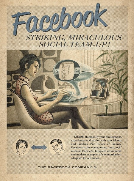 Facebook, retro-imagined.                (via These Tubes Are Old!: Vintage Website Ads | Geekologie)
