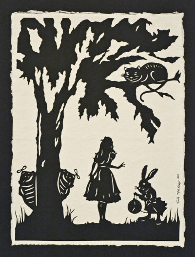 """Alice in Wonderland"" Papercut by tinatarnoff  Use code ""MOTHERSDAYSALE"" for 20% off"