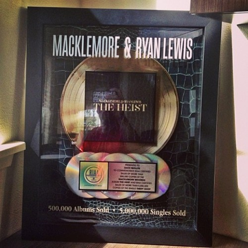 mackryan:  Never thought I would have one of these…. #gold. Love you all hella #sharkfacegang