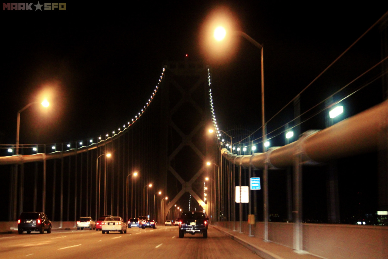 Bay Bridge, San Francisco-Oakland, CA.