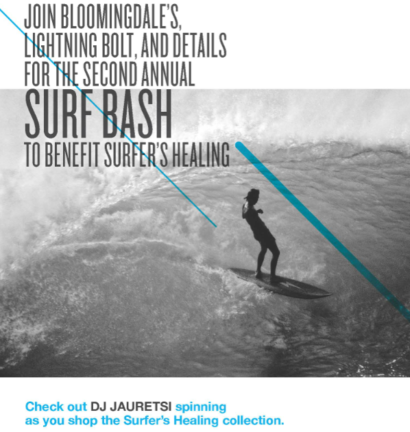A Surf Party This Wednesday To all our readers in New York, The Inside Source would like to invite you to a cool event to be held this Wednesday in honor of Surfers Healing, an organization hooking up autistic youth. Our Chief Curator for TIS, Jauretsi, will be DJ'ing the event and ringing in the Spring with a bevy of hip New York surf folks along with Details Magazine and Lighting Bolt. Jonathan Paskowitz of the Paskowitz Surf documentary will be hosting the event. To RSVP, email rsvp@details.com. Wednesday, April 17, from 6-8pm at Bloomingdales, Soho at 504 Broadway, Men's Lower Level. Enter a chance to win a weekend getaway in Montauk at surfers paradise Ruschmeyers. For more info, visit SurfersHealing.com