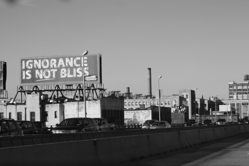 Ignorance is not bliss on the Gowanus Expressway.