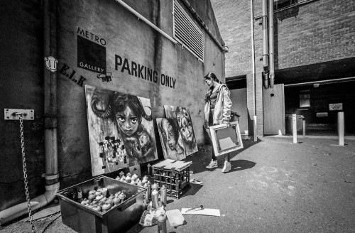 "akut-herakut:  ""parking lot studio"" melbourne.2013"