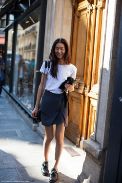 Paris Fashion Week; Liu Wen
