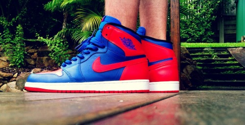 "jsarg:  Air Jordan 1 ""Knicks"""