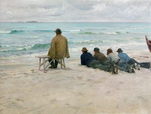 snowce:  Eilif Peterssen, On Watch, 1889