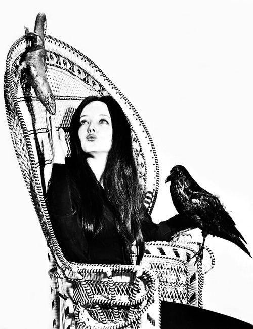 vintagegal:  Carolyn Jones as Morticia Addams, 1960's
