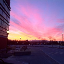 -5 at sunrise (at UVM Jeffords Hall)