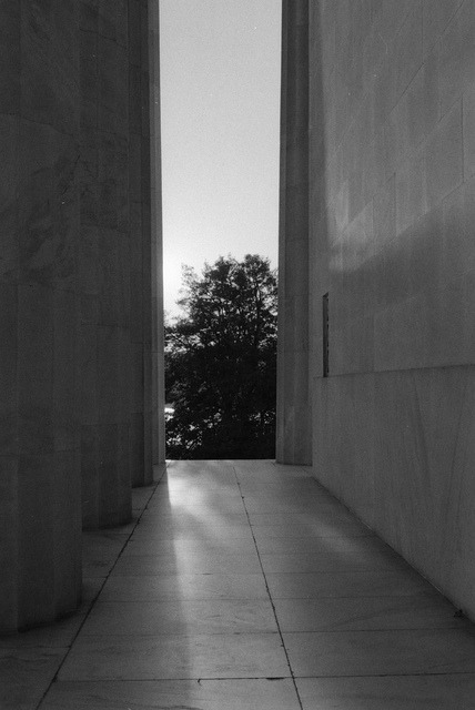 jeophotos:  light and monument on Flickr. Mamiya ZE-2 Ilford HP5 400 50mm