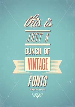 betype:  Vintage Fonts