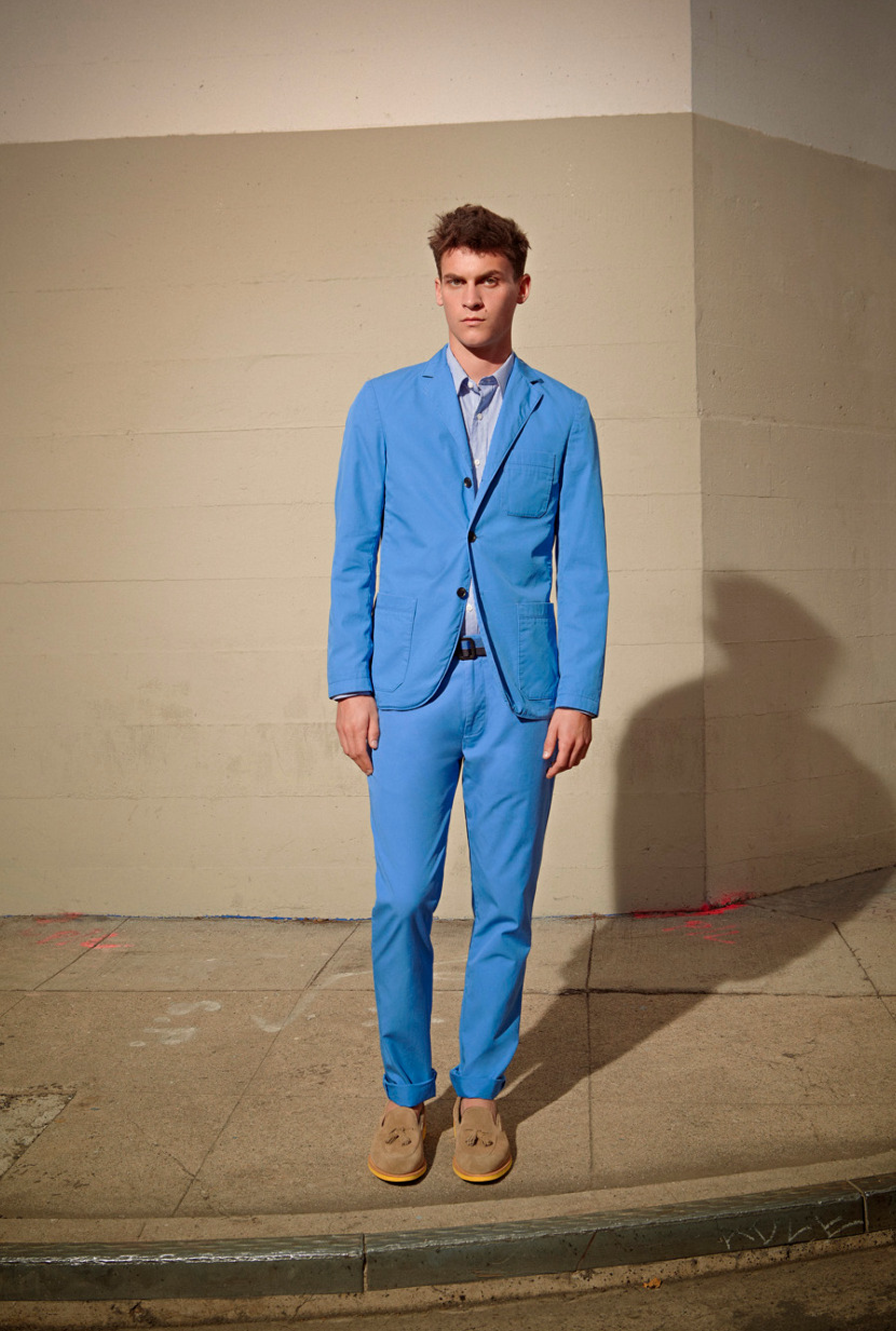 clubmonaco:  Lightweight Cotton Suit in Electric Eel