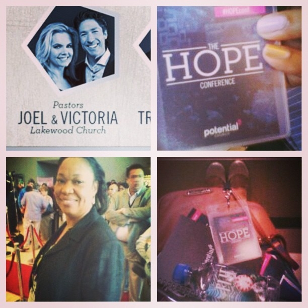 Day 1 of #TheHopeConference… Had  Mr. Osteen & Mama on deck.