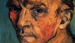 opus53:  Vincent van Gogh, Self-Portrait (Detail), Oil on canvas, 1889