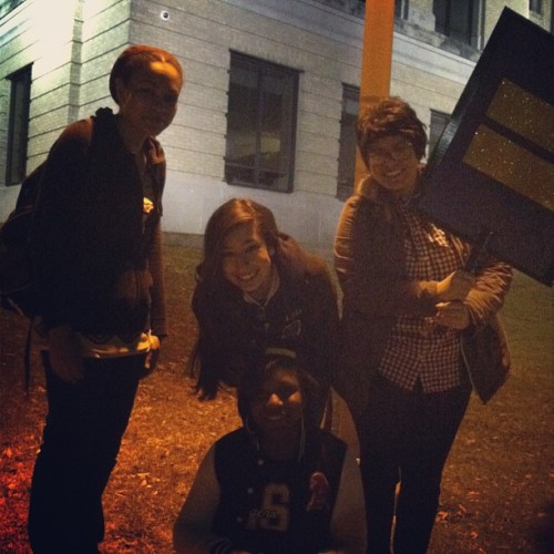 weallneedalittlemoreroom:  We got to hold the #equality sign tonight too 😊🌈