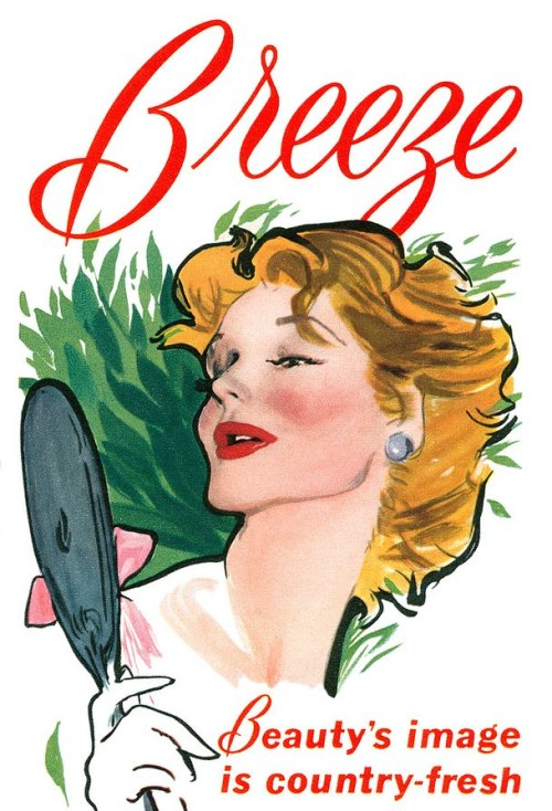 Breeze Soap advertisement. (by totallymystified)  From Illustrated magazine, week ending 13th November, 1954.