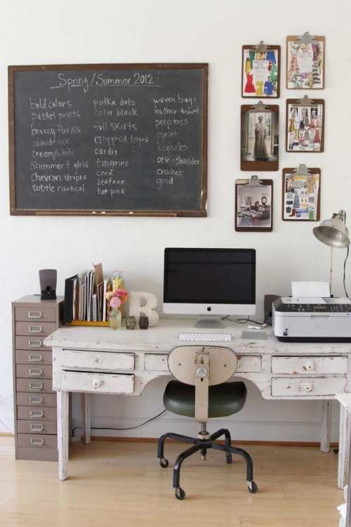 myidealhome:   my ideal home office ;) (via Apartment Therapy)