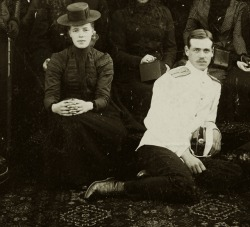 Grand Duchess Olga Alexandrovna and Grand Duke Mikhail Alexandrovich of Russia. Early 1900s