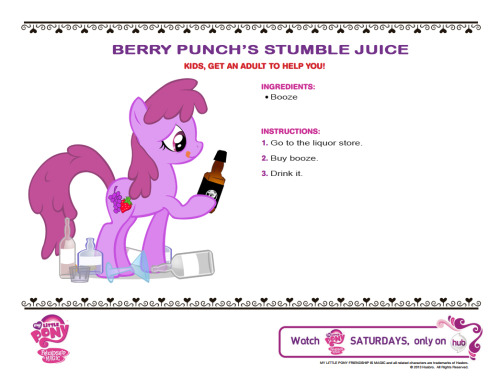 Berry Punch's Stumble Juice- rejected submission to The Hub's Princess Coronation Recipe page.