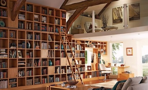 wordpainting:  Nice study and home library.