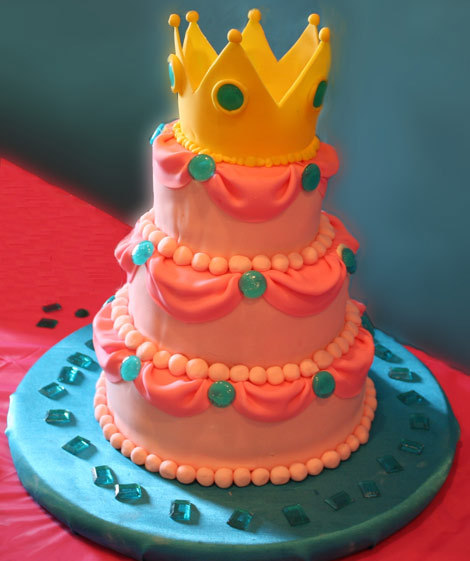 Princess Peach Wedding Cake!
