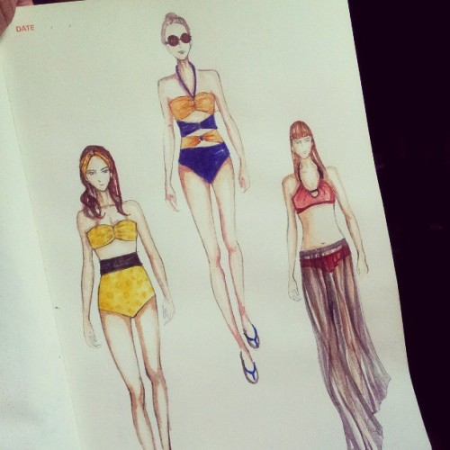 Next project #swimsuits #swimwear #swimsuit #fashion #fashionaddict #fashionista #fashiondrawing #fashionillustration #fashiondesign #sewingproject #sketch #sketchbook #drawing