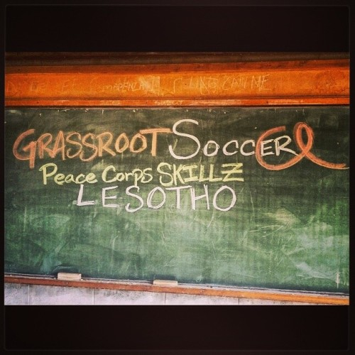 lumela-lesotho:  Starting GRS with my kids today #PCSkillz @grassrootsoccer #peacecorps #lesotho