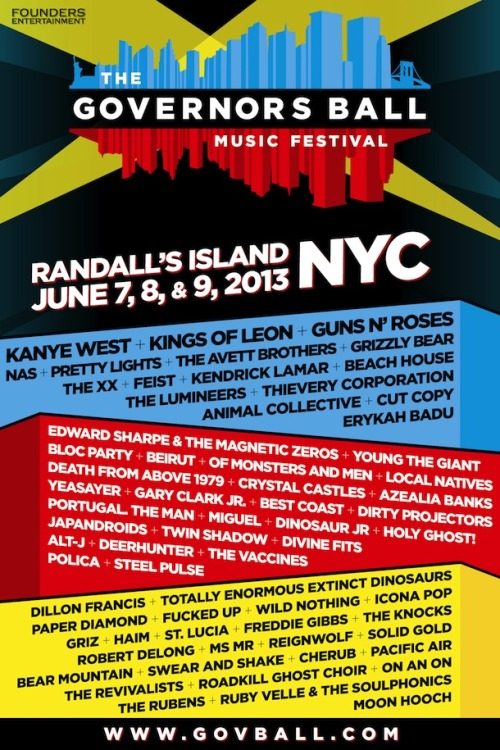 (via Third Governors Ball headliner revealed)