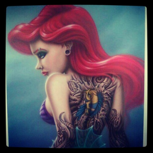 nadiamacchione:  This is cool #loveit#tattoos#disney  Body as a canvas !