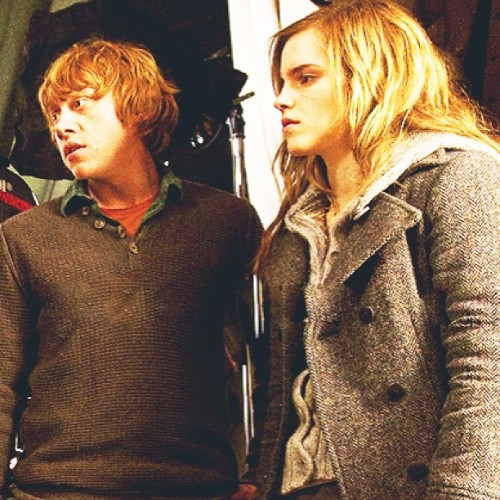 Rup and Emma. #rupertgrint #emmawatson #harrypotter #movie #love