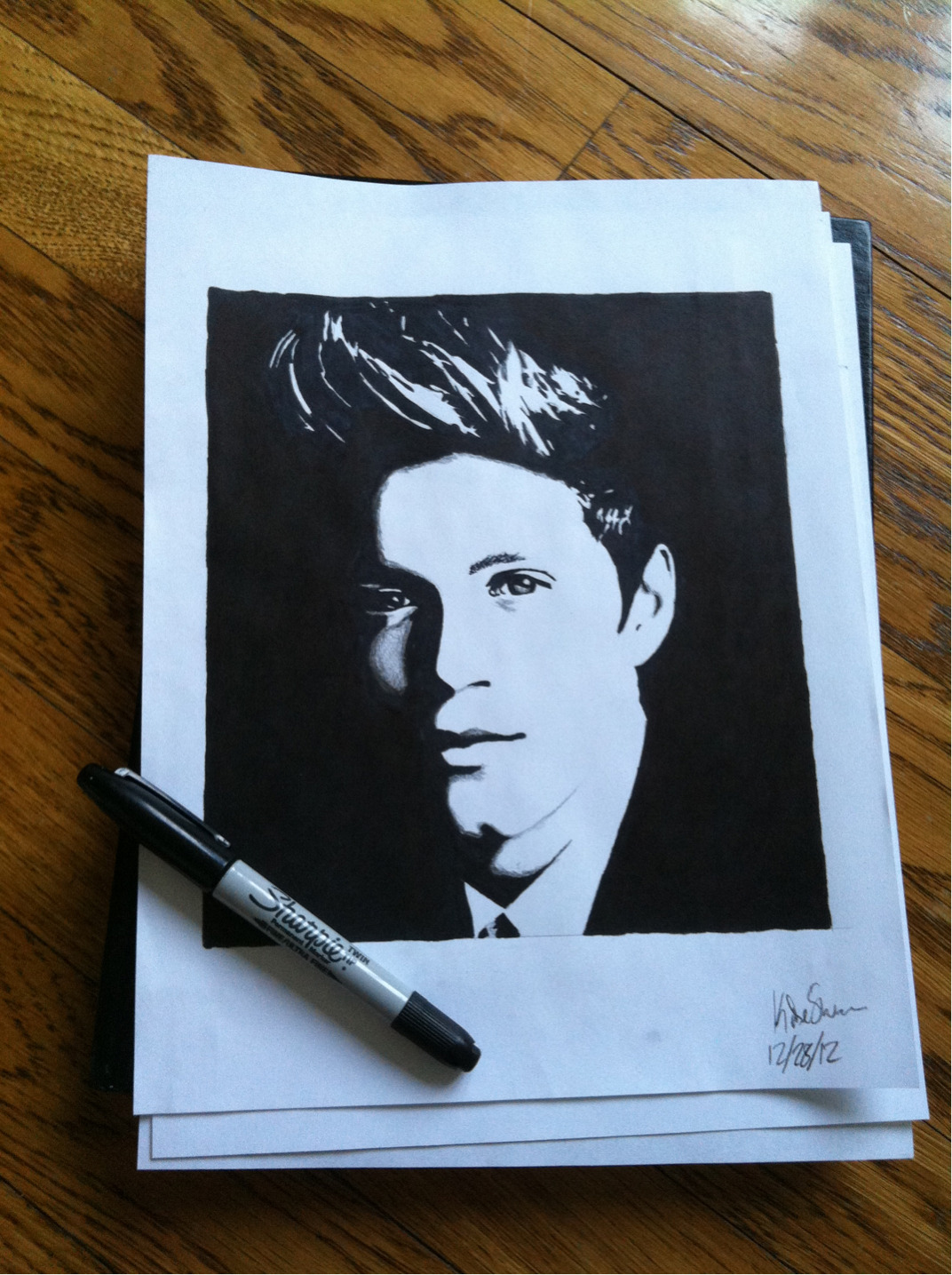 My drawing of Niall for my 9 year old cousin haha