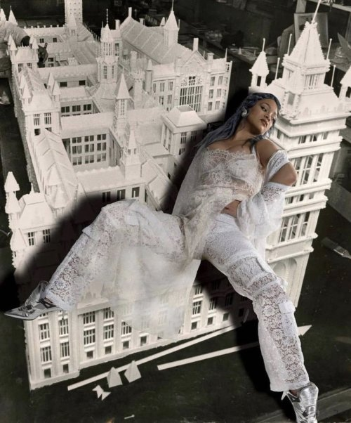 Rihanna for ESSENCE Magazine January/February 2021. Photographic collages by Lorna Simpson #Rihanna#Lorna Simpson#ESSENCE#ESSENCE Magazine#fashion#music#collage#collages#singer#musician#designer#celebrity#style