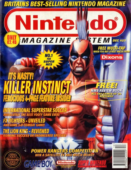 Nintendo Magazine System Killer Instinct cover.Chief Thunder going for the Victorian wasp-waist look, I see.