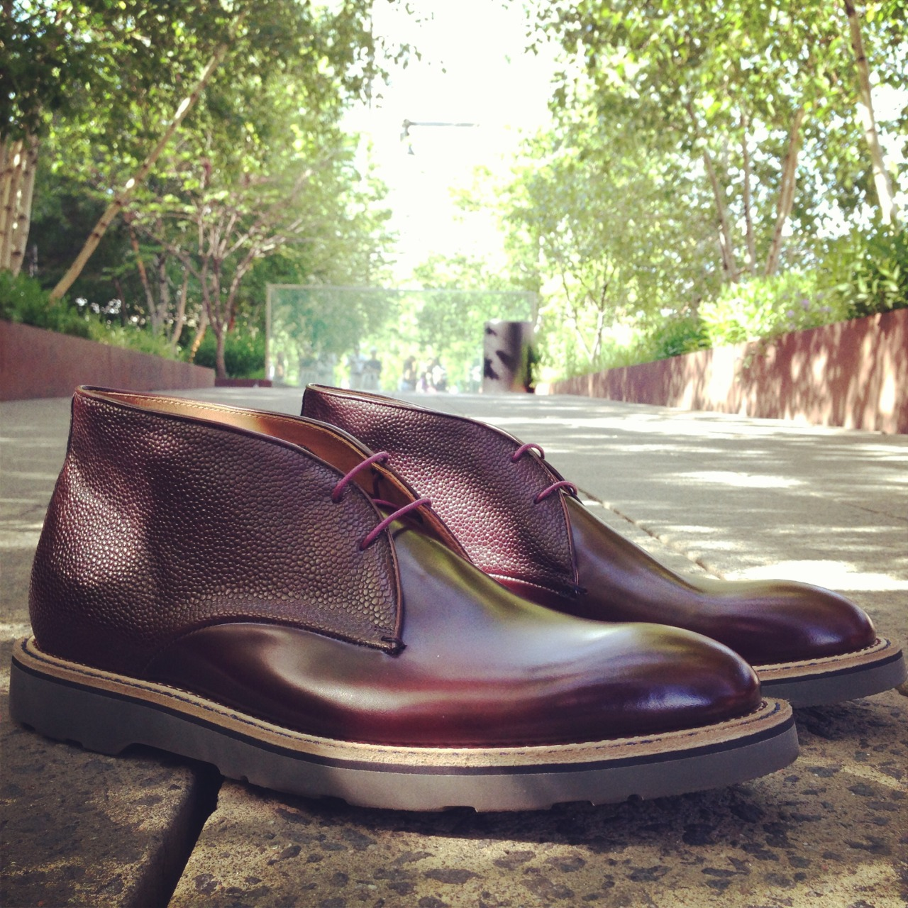 Shoegazing on the High Line  The Paul Smith textured leather chukka